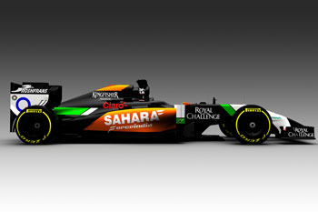 Diseño del VJM07 (Foto: Sahara Force India)